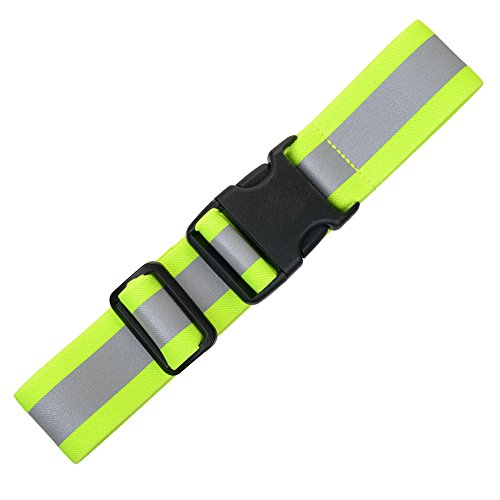 """Illumiseen Extension for The LED Reflective Belt – 3 Colors (Neon Green, Blue and Red) – Adds a max. of 19.6"""" to Your Hi-Viz Belt"""