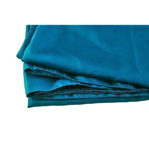 "Marycrafts 100% Pure Mulberry Silk Single Sleeping Bag Liner Travel Sheet Sleepsack 83""x33"" Peacock Blue"