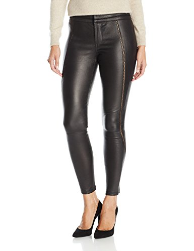 David Lerner Women's Stitched Leather Legging