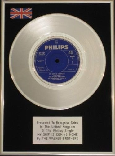Walker Bros - 17,78 cm de disco de platino - Mi nave vuelve ...