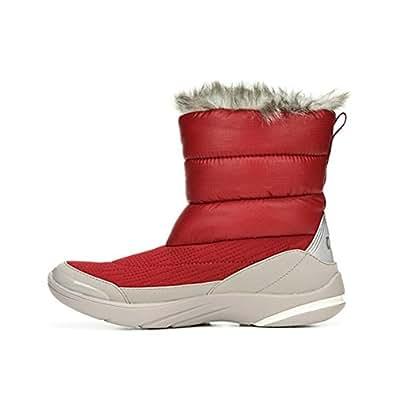 Bzees Women's Luscious Short Winter Boots, Red, 8 M