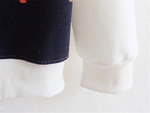 Luna et Margarita Mujer sudadera con capucha impreso con cordones de extracción de material de abrigo campana gato blanco