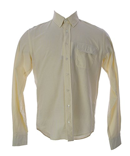 GANT Men's Striped Oxford Button-Up Shirt X-Large Lemon F...