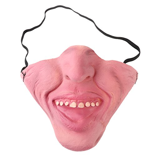 Tinksky Funny Latex Half Face Masks Horrible Scary Mask Cosplay Costume for Halloween Party Halloween Decorations (Weird (Weird Scary Halloween Costumes)