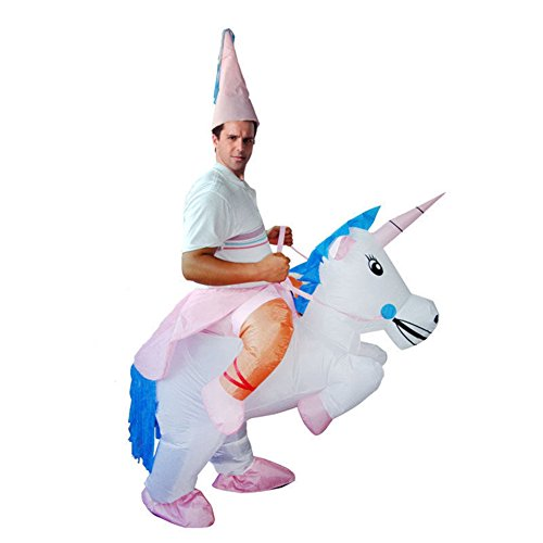 Inflatable Unicorn Halloween Party Cosplay Costume (White Tutu Party City)