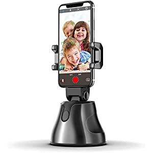 NOYMI Mobile Stands for Video Recording & Camera,360°Rotation Object Tracking,Desktop Gimbal Smartphone Selfile Stick Stand for Phone Mobile Tiktok YouTube Video Shooting(Black) 11