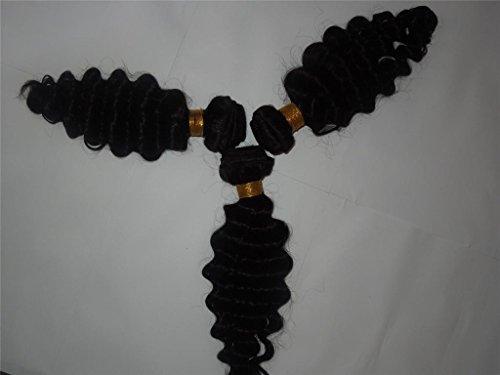 HairPR Hair 3 Bundles Hair Weft Virgin Hair 100% Human Chinese Hair Weave 10 Inches-28 Inches Natural Color 300 Gram Deep Wave