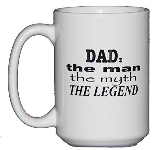 Handmade 15oz Dad: Man, Myth, Legend Coffee Mug – Fathers Day Gift