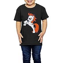 AK79 Kids 2-6 Years Old Boys And Girls Denver Pony Broncos T Shirt Black