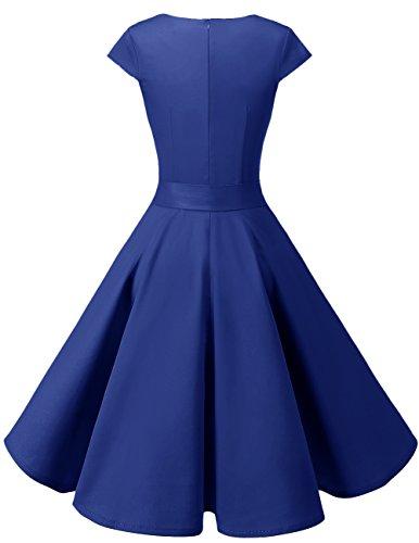 Vestito White 1950 Hepbun Donna Corte Small Dresstells Audrey A Maniche Vintage Black Dot N80nwmOv