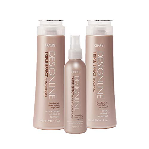 (Triple Effect Shampoo and Conditioner Trio Kit - Regis DESIGNLINE - Sulfate Free Argan Oil and Keratin bundle for Normal or Dry)