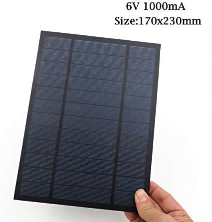Z.L.FFLZ Mini Solar-Panel Solar Panel 6V 9V 18V Mini Sonnensystem DIY for Batterie Handy-Ladegeräte Tragbares Solarzelle (Color : 6V 1000mA, Size : Schwarz)