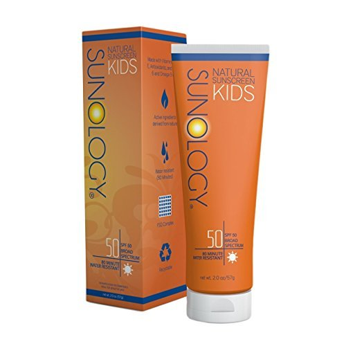 Sunology Natural Sunscreen for Kids SPF 50, Broad Spectrum, Zinc Oxide & Titanium Dioxide Active Ingredients, 2 Oz by - Bluegrass Mall