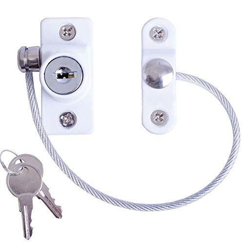 GZQ Window Door Restrictor Child Baby Safety Security Cable Lock Catch Wire with Screws Keys for Home Public and Commercial Applications