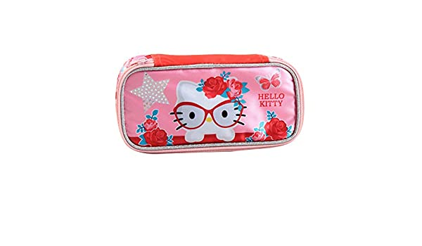 Jacob & Co. Pencilbox Hello Kitty - Estuche (21 cm), Color Rosa: Amazon.es: Equipaje