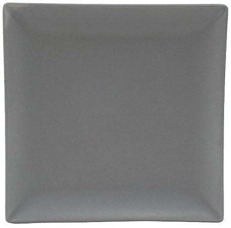 Unbranded 7069031 - Set 6 piatti da dolce, quadrati, in ceramica, 18 x 19 x 2 cm, colore: Crema