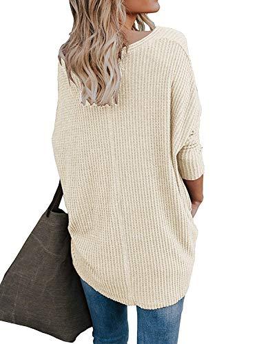 Abricot Chauve tricots Femme V Shirt Tops Chemisier Irrgulier Dcontract Cardigan Casual Blouse Sweat Col Chandails Manches Souris Lache Longues Noeud Boutons Mode Tunique Walant 6qgwvdA6