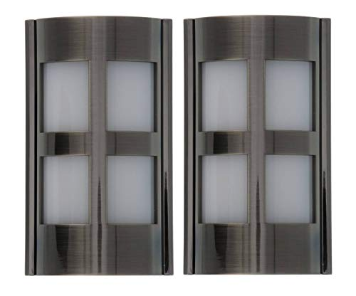 (Capstone Dusk to Dawn LED Plugin Night Light–Automatic Dusk to Dawn Sensor Feature,Decorative Sconce Lights Up Your Home,No Batteries Needed–Covers Unused Outlets,Modern Glass,Satin Nickel (Pack of)