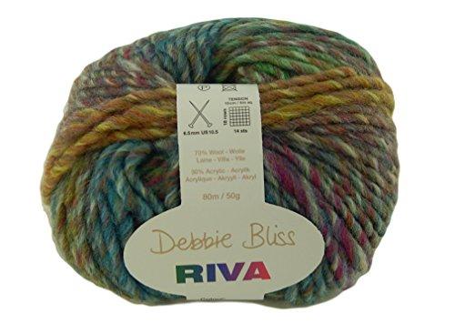 Debbie Bliss Riva Yarn Wool Acrylic Color Woodland Chunky Bulky 87 (Woodland Green Acrylic)