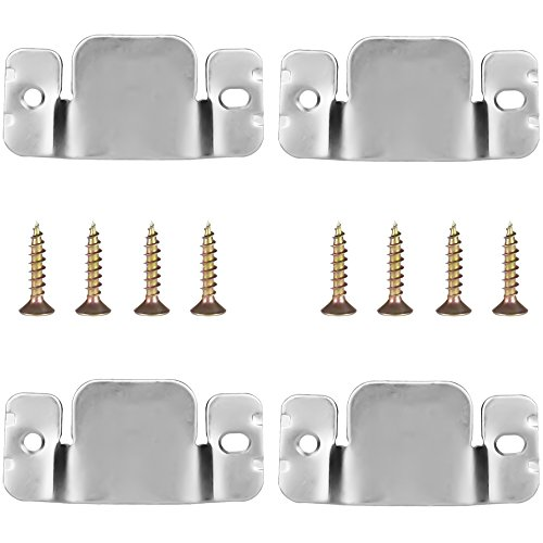 NUON Universal Sectional Sofa Interlocking Sofa Connector Bracket with Screws, 4 Pieces