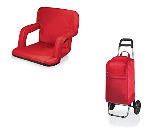 ピクニック時間Ventura Seat andカートクーラー – レッド、2のセット B06XHYJDLM