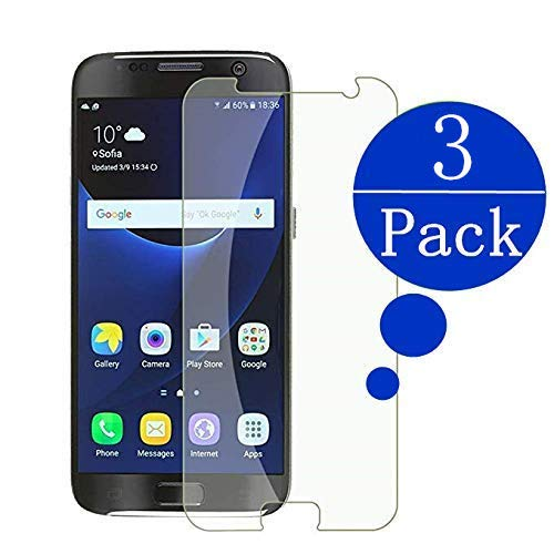 [3 - Pack] Compatible Samsung Galaxy S7 Tempered Glass Screen Protector,Rockxdays 9H Hardness,Bubble Free [Ultra-Clear] [Scratch Proof] [Case Friendly] Screen Protector Compatible Galaxy S7