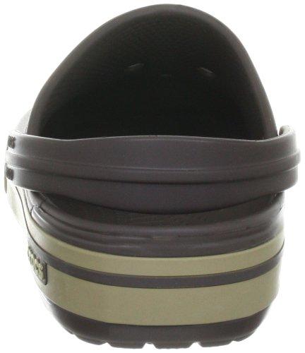 Crocs Crocband II.5 Clog, Zoccoli Unisex-Adulto Marrone (Espresso/Khaki)