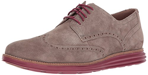 Cole Haan Men's Original Grand Shortwing Oxford, Sea Otter/Sun Dried Tomato, 9 Medium US by Cole Haan