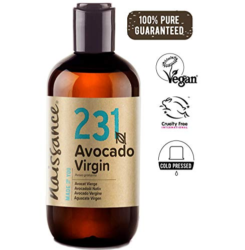 Naissance Virgin Avocado Oil 8 fl oz - 100% Pure Natural and Vegan - Natural Moisturizer for Body, Face, Hands and Hair