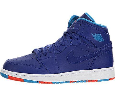 Jordan Big Kids Air Jordan 1 Retro High (GS) (deep royal blue / blue lagoon-infrared 23) Size 6.0 US