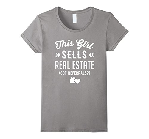 Womens Real Estate Agent Shirt   This Girl Sells Real Estate Large Slate