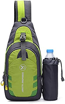 CATOP resistente al agua viajes ligero hombro mochila cruzada Sling Bag al aire libre pecho Pack para Senderismo Camping hombres y mujeres, hombre, verde: Amazon.es: Deportes y aire libre