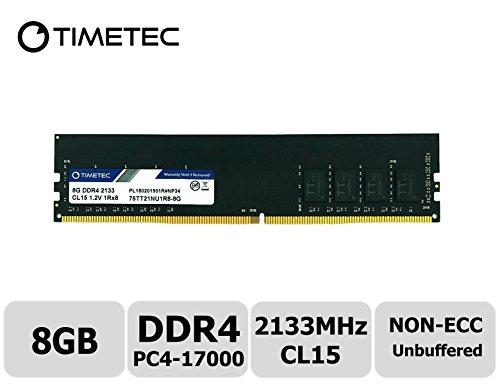 (Timetec Hynix IC 8GB DDR4 2133MHz PC4-17000 Unbuffered Non-ECC 1.2V CL15 1Rx8 Single Rank 288 Pin UDIMM Desktop Memory RAM Module Upgrade (8GB))