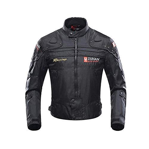 Motorcycle Jacket Motorbike Riding Jacket Windproof Motorcycle Full Body Protective Gear Armor Autumn Winter Moto Clothing (Black, XXL) (Lightweight Motorcycle Jacket)