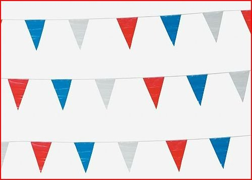 500 Foot Red, White And Blue Pennant Banner ()