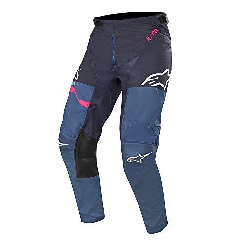 Alpinestars Racer Flagship MX Pants 32 inch Indigo Dark Navy Pink Fluo