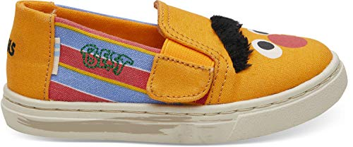 (TOMS Kids Unisex Sesame Street Luca (Toddler/Little Kid) Yellow/Orange Bert and Ernie Face Canvas 11 M US Little)
