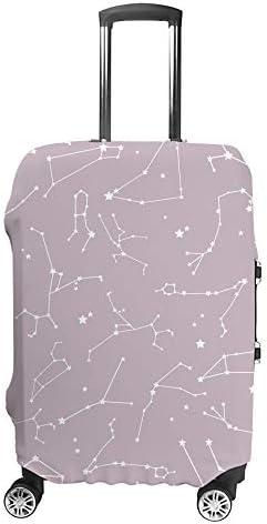 スーツケースカバー 星座 伸縮素材 キャリーバッグ お荷物カバ 保護 傷や汚れから守る ジッパー 水洗える 旅行 出張 S/M/L/XLサイズ