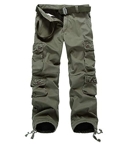 397760d2 AOYOG Thicken Mens Winter Fleece Lined Cargo Pant Windproof Outdoor Work  Pants