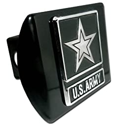 Army (Star) ALL METAL Black Hitch Cover