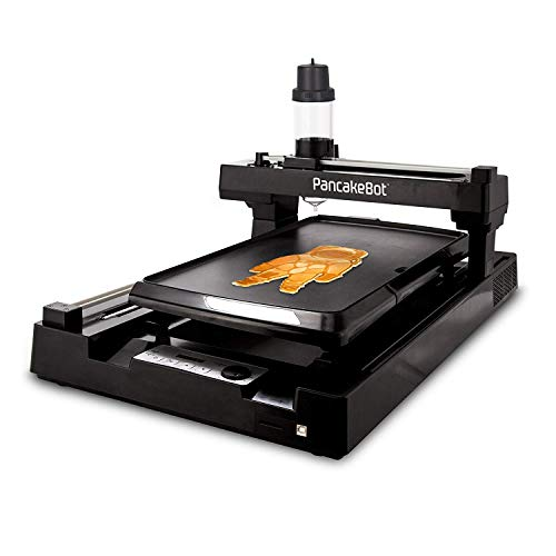 PancakeBot 2.0: 3d Pancake Food Printer + Nonstick Electric Griddle with Temperature Control, Dispenser Bottle, SD Card, Pancake Painter Software, and Recipe Book, Black