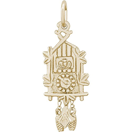 - Rembrandt Charms 14K Yellow Gold Cuckoo Clock Charm (23.5 x 10.5 mm)