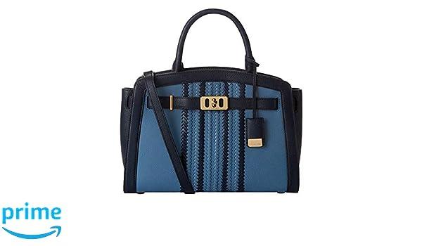 8ef70d522bd3 Michael Kors Large Karson Pebble Leather Satchel in Denim   Navy  Handbags   Amazon.com