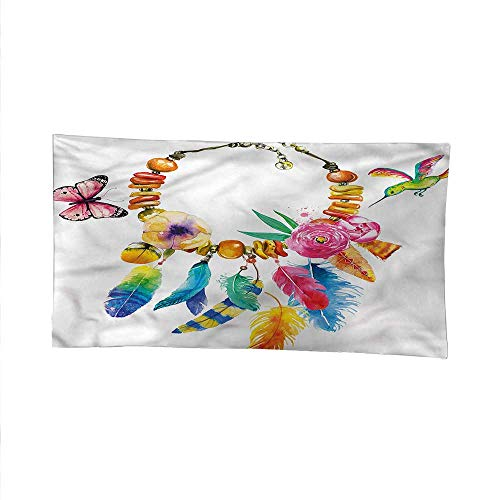 Necklace Hamsa Vibrant (Colorfulfunny tapestryquote tapestryBohemian Vibrant Necklace 60W x 51L Inch)
