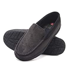 Pamper Your Feet With The Hanes Men's Memory Foam House Slipper With Fresh Iq Odor Protection Technology. Hanes Slippers Feature A Durable, Slip Resistant Rubber Sole Great For Indoor And Outdoor Use. The Plush Lining Will Keep Your Feet Cozy...