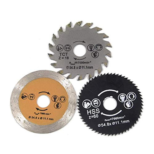 Saw Blades - 3pcs 54 8mm Diameter Mini Circular Saw Blade Sp