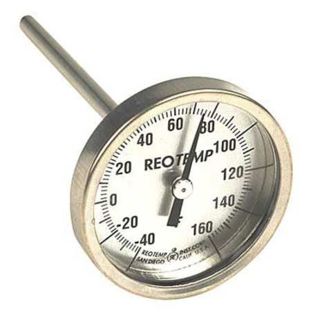 Bimetal Therm, 2-3/8 in Dial, 40to160F