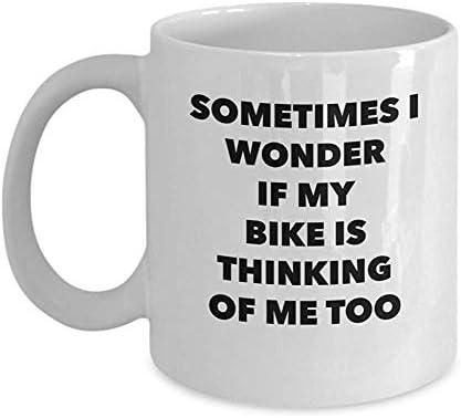 Mug Café,Taza de ciclismo de montaña: a veces me pregunto si mi ...