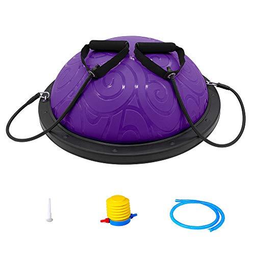 Ativafit Half Ball Balance Trainer with Straps Yoga Balance Ball Anti Slip for Core Training Home Fitness Strength…