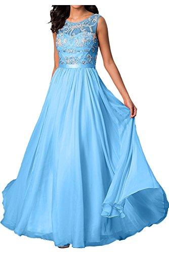 A Chiffon Partykleider Blau Aus Gruen Hell Formalkleider Braut Abendkleider mit Steine Damen Rock La Ballkleider Linie Chiffon mia FpqUxwg